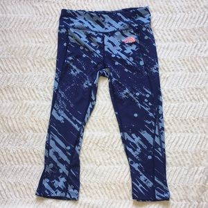 The North Face Blue Crop Leggings Size XS